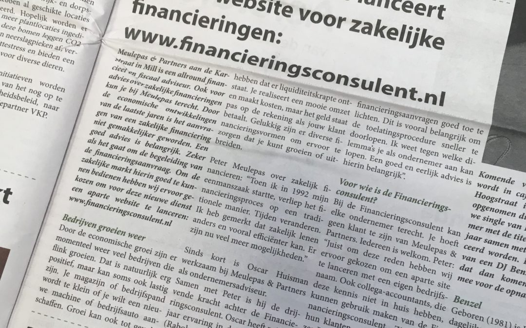 Artikel in regionale krant