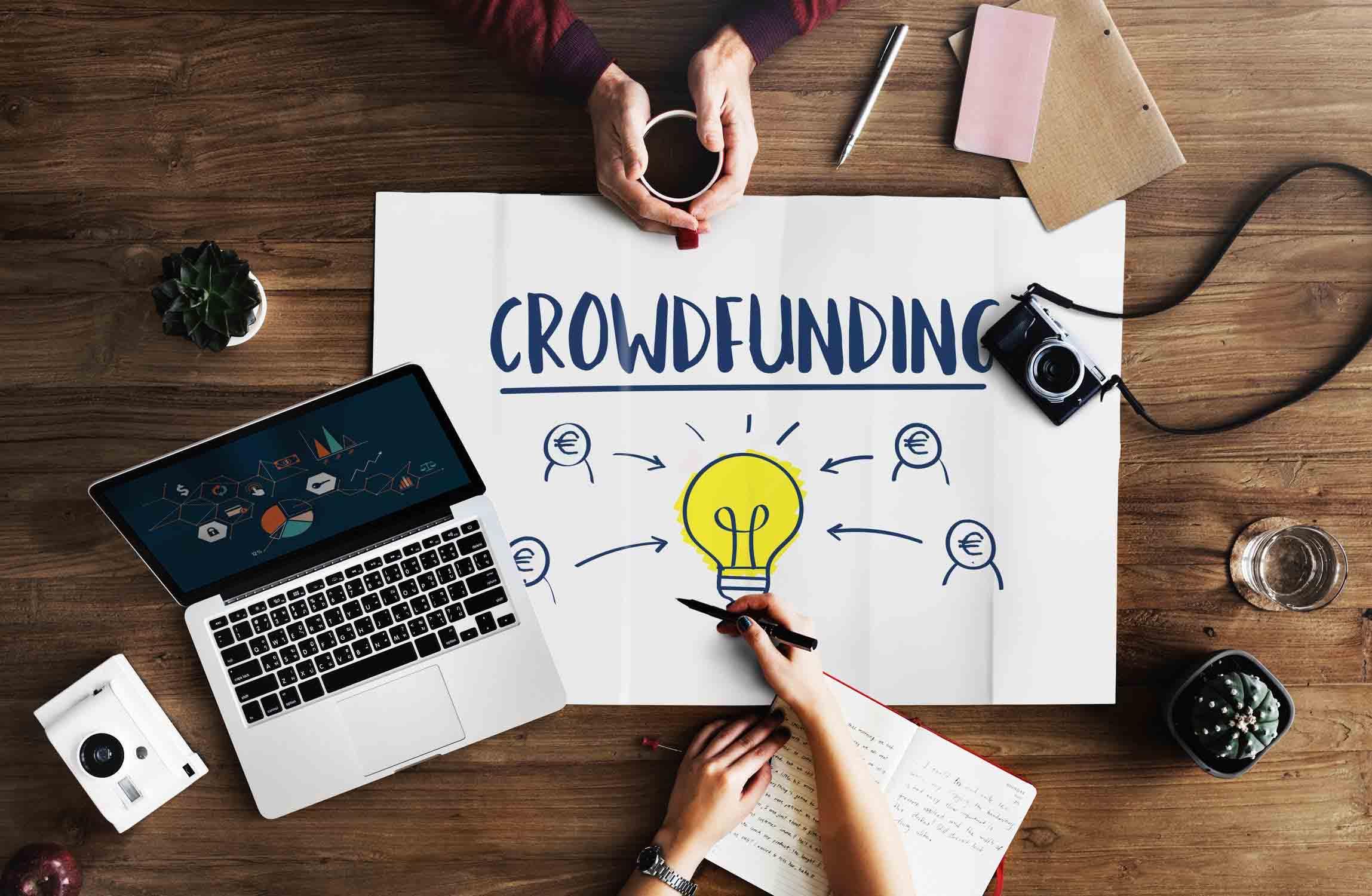 Crowdfunding ideeën en plannen op tafel